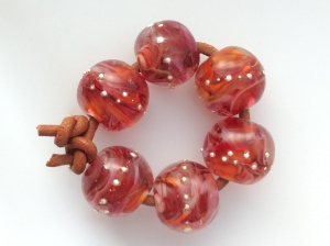Ruby Darlings Bead Set